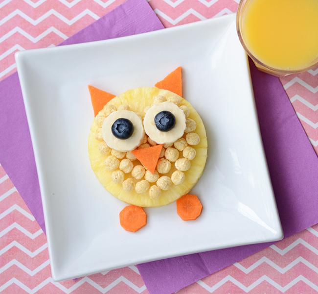 carrot pineapple owl